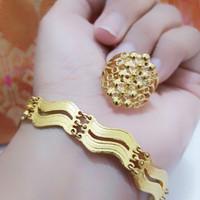 gelang tangan dan cincin lapis emas 24k