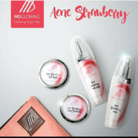 cream malam Acne series Strawberry by Md glowing