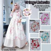 Baju Terusan Wanita Muslim Longdress vintage umbrella
