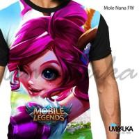 Harga kaos mobile legends legend mole nana fw 3d umakuka print   antitipu.com