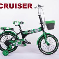 sepeda 16 interbike folding cruiser lipat