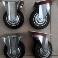 Kaki Roda Etalase / Gerobak Dorong Karet set (1set 4 roda)