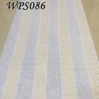 WALL PAPER STICKER HIASAN DINDING -WPS086-GREY N GOLD LINE WALPAPER