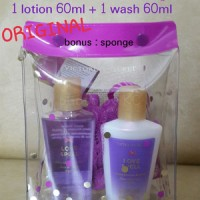 SET PAKET 60ml Wash+60ml Lotion LOVE SPELL (Victoria Secret ORIGINAL