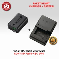 PAKET BATERAI SONY NP-FW50 + CHARGER BC-VW1
