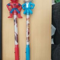 Mainan Anak Tongkat Stick Karakter Spiderman Boboby 3 variasi Lampu