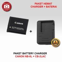 PAKET BATERAI CANON NB-8L + CHARGER CB-2LAC