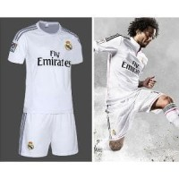 Jersey Sepakbola Real Madrid No 12 Marcelo Size L - Whi Promoo