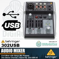 Mini Mixer Behringer Xenyx 302USB soundcard audio interface / IEM Live