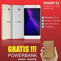 Smartphone SHARP Z2 warna GOLD dan SILVER GRATIS powerbank