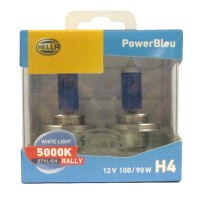 Hella Bohlam Mobil H4 12V 100/90W 5000K Power Bleu Rally