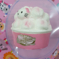 Squishy Mini Hello Kitty Ice Cream Cup