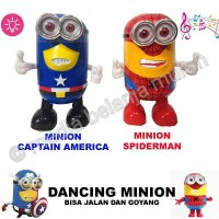 DANCING MINION - MAINAN SPIDER MINION CAPTAIN AMERICA MENARI UNIK