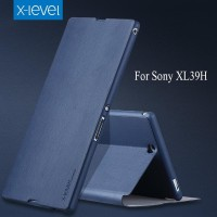 case Hp Sony Xperia Z Ultra XL39H Flip Cover Leather X-LEVEL FIB Hard