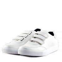 Sepatu Sneakers SN-01 Strap Full White - NAH Project x Sepatubox
