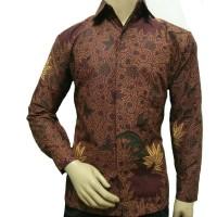 new model Kemeja Batik Lengan Panjang Batik Pria 020 Baju Kantor Bati