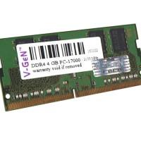 RAM Memory Laptop VGEN DDR4 SODimm 4GB PC17000/2133Mhz