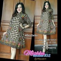 Gambar Dress Batik Kerja, Dress Batik Untuk Kerja Modern,