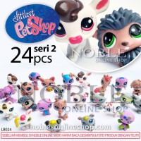 24pc Littlest PetShop Figure Seri 2-Chibi Animal-Little Pet Shop-LB024