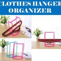 Clothes Hanger Organizer Hanger Caddy Tempat Menyimpan Gantungan Ba
