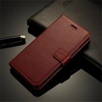 LEATHER FLIP COVER WALLET Nokia 6 case casing hp dompet kulit premium