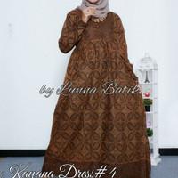 Baju Terusan Wanita Muslim Longdress Batik Kayana Dress #4