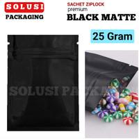 SACHET BLACK MATTE 25GR/PLASTIK KLIP AKSESORIS HP/KEMASAN KOPI/BAG