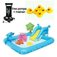 murah kolam renang anak prosotan + pompa kolam bestway mainan surabaya