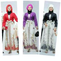 Gamis Amira Anggrek | Pabrik Baju Batik Wanita  Grosir Murah Solo