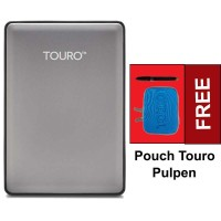 Hitachi Touro S 500GB 7200RPM - Gray Pouch dan Pulpen