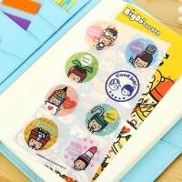 ID-BigDo Random Hair Deco Stickers/Stiker Hiasan Buku