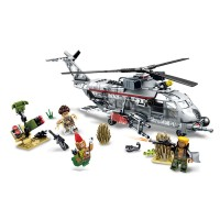 Lego Sembo Block - Block Gold Series 11688 Army Swat Helicopter