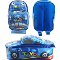 Tas Ransel Sekolah Anak TK Tayo Tayo 3D Mobil On The Road