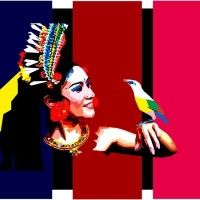 """Bali Dancer & Bird"" Souvenir Print Vector Non Frame"