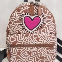 Tas Backpack Ransel Coach Keith Haring Backpack Love Pink