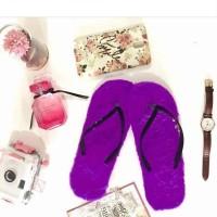 Furry Slippers Ungu