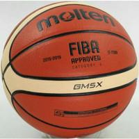 Bola Basket Molten Gm5x Kulit Import