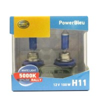 Hella Bohlam Mobil H11 12V 100W 5000K Power Bleu Rally