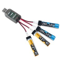 USB LIPO BATTERY CHARGER 1S 3.7v 4IN1 AOK-CX405