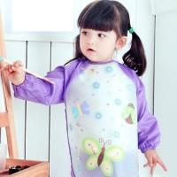 Baju makan/baju main/baju melukis anak/bayi plastik lengan panjang bib