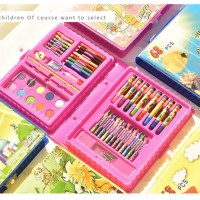 alat tulis set 68 pcs pensil warna crayon oil pensil cat air