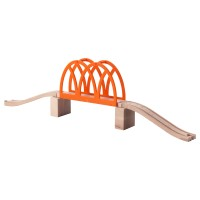 Mainan Anak -IKEA LILLABO Train Bridge Set Jembatan Kereta Api Isi 5pc