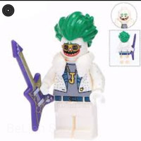 (465) Batman DISCO JOKER lego bootleg kw minifigure in sealed plastic