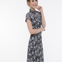Miselid Lace Cheongsam Import Black