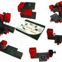 mesin cnc mini rakitan DIY 6in1 bubut millling jigsaw grinding bor