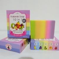 Harga sabun frufitamin 10n1 by wink white | Pembandingharga.com