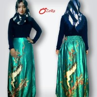 Gamis Batik, baju gamis batik, gamis batik kombinasi