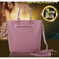 tas bucket besar wanita ngantor semiformal kerja purple pink SIMPEL ck