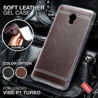 Soft Leather Gel Case Lenovo Vibe P1 Turbo Softcase Silikon Jelly