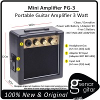 Ampli Gitar Mini PG-3 - Amplifier Portable Mirip Marshall MS-2 MS2